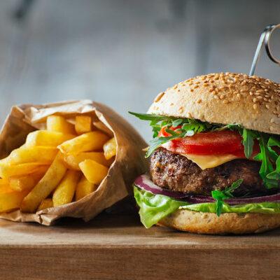 American Hamburger and Cheeseburger