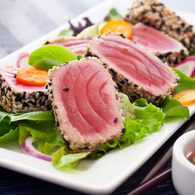 Ginger , tuna and vegetables