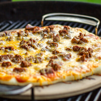 Grilled Pizzas With Prosciutto, Pesto, And Taleggio Cheese