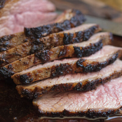Grilled Tri-Tip Roast with Caramelized Onion Sauce