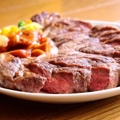 Sirloin steak marinated