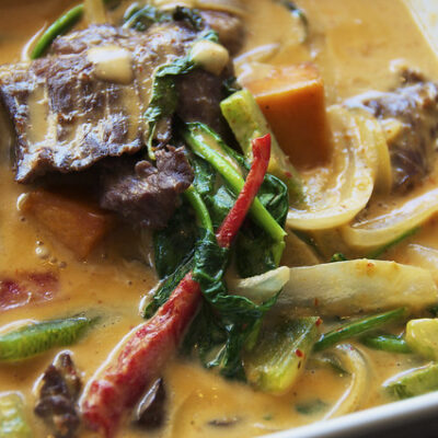 Skirt Steak and curry