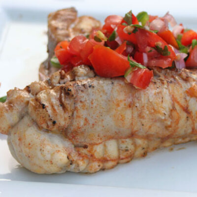 Spiced-Rubbed Grilled Monkfish