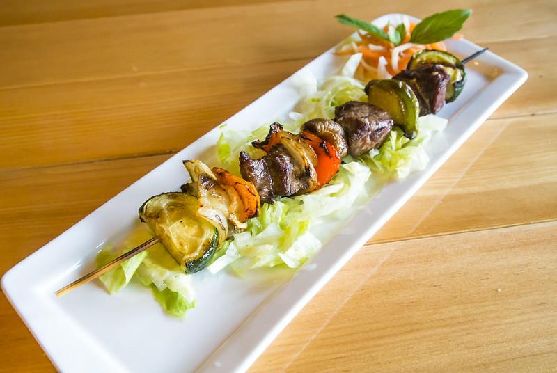 Char-Grilled Kangaroo Kebabs & Smoked Eggplant