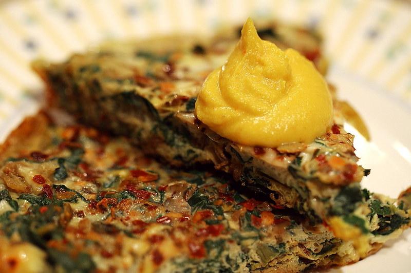 Chorizo and Chard Frittata