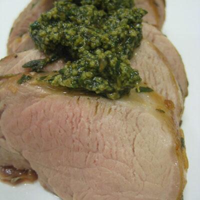 Pork Tenderloin with Pesto