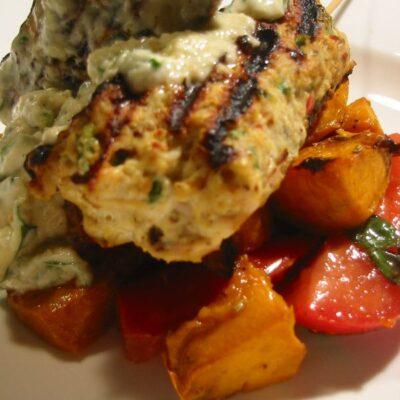 Grilled Chicken Koftas