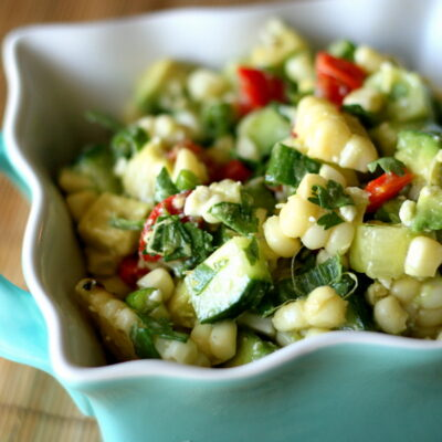 Grilled Corn and Cucumber Salad