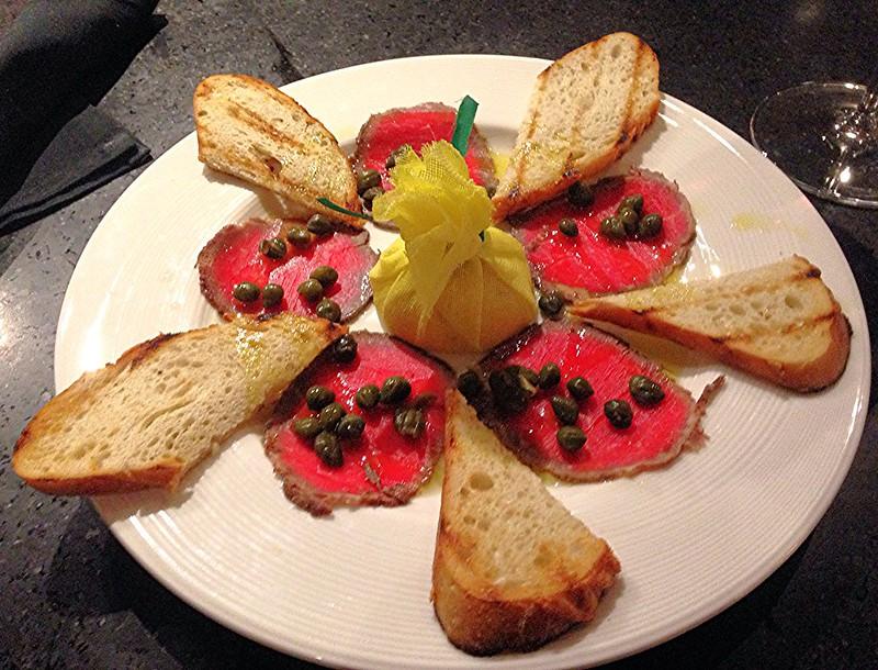 Grilled 'Carpaccio' with Arugula