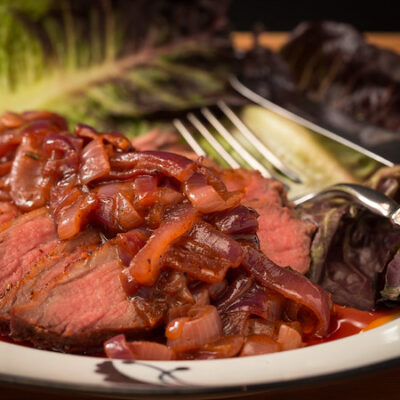 Grilled Soy and Limed beef tri-tip
