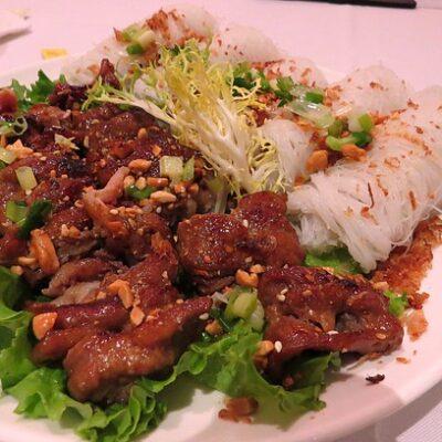 Vietnamese style grilled pork