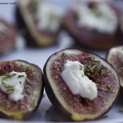 Grilled Feta-stuffed Figs