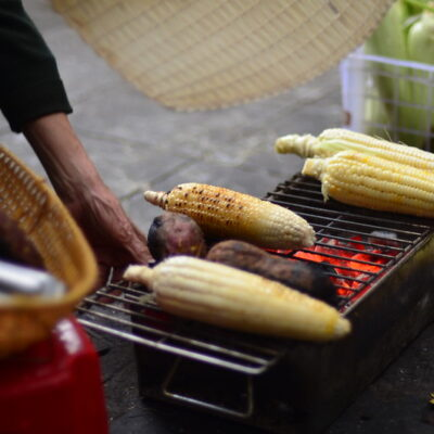 Grilled Potato, Roasted Corn, and Smoked Pepper Salad